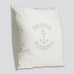 Summer destin- florida Burlap Throw Pillow