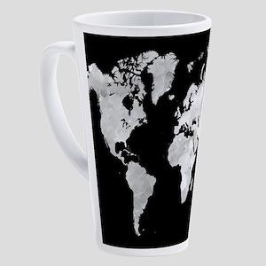 Design 70 world map 17 oz Latte Mug