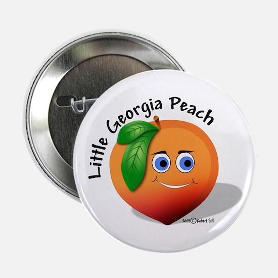 """Little Georgia Peach 2.25"""" Button"""