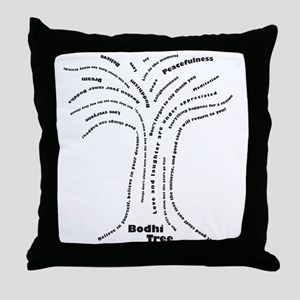 Buddha Bodhi Tree Throw Pillow