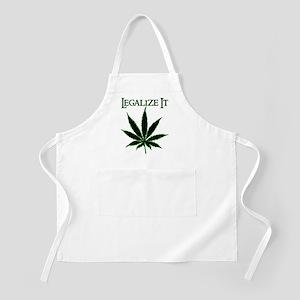 Legalize It Marijuana BBQ Apron