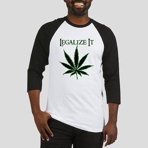 Legalize It Marijuana Baseball Jersey