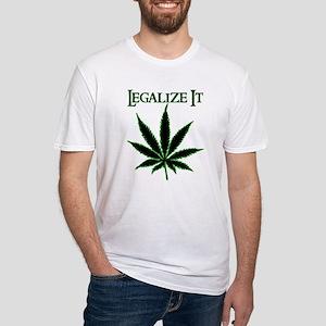Legalize It Marijuana Fitted T-Shirt