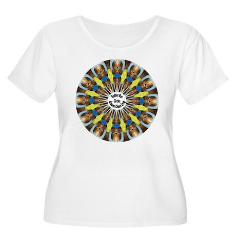 Sheltie Kaleidoscope Women's Plus Size Scoop Neck