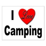 I Love Camping Small Poster