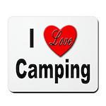 I Love Camping Mousepad