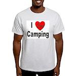 I Love Camping (Front) Ash Grey T-Shirt