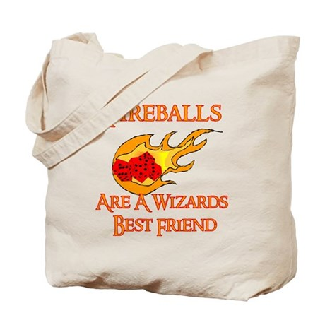 Fireballs Are A Wizards Best Friend Tote Bag