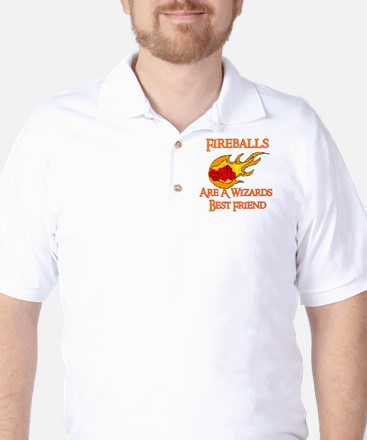 Fireballs Are A Wizards Best Friend Golf Shirt