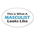 Masculist Oval Sticker