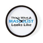 Masculist Wall Clock