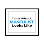 Masculist Framed Panel Print