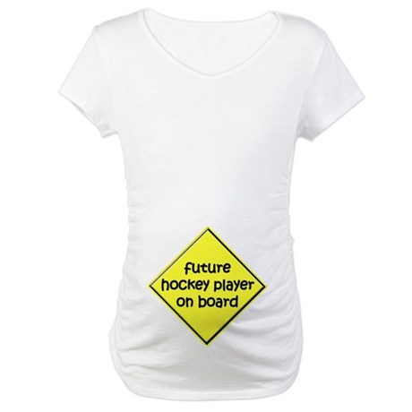 Future Hockey Player on Board Maternity T-Shirt