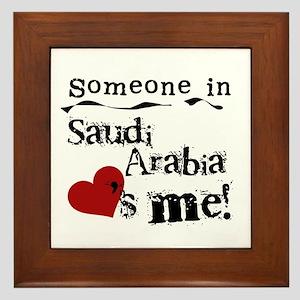 Saudi Arabia Loves Me Framed Tile