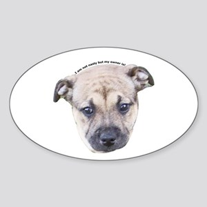 Staffordshire Bull Terrier Puppy Oval Sticker