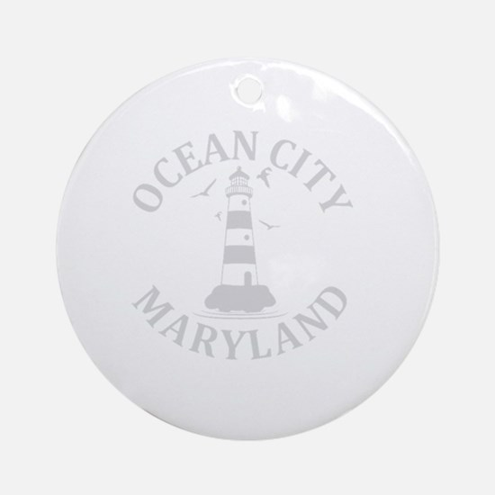 Cute Ocean city maryland Round Ornament