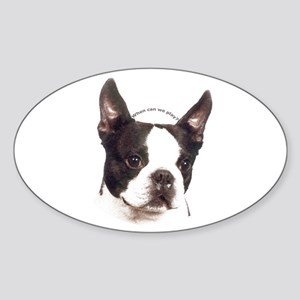 Boston Terrier Oval Sticker