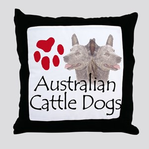 Australian Cattle Dogs Throw Pillow
