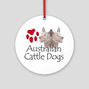 Australian Cattle Dogs Ornament (Round)