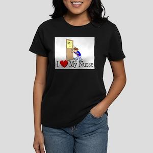 I Love My Nurse Women's Dark T-Shirt