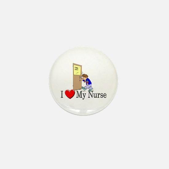 I Love My Nurse Mini Button