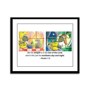 Psalm 1:2 Framed Panel Print