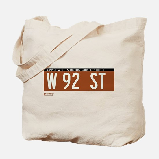 92nd Street in NY Tote Bag