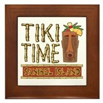 Tiki Time on Sanibel - Framed Tile