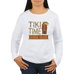 Tiki Time on Sanibel - Women's Long Sleeve T-Shirt