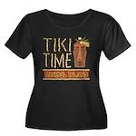 Tiki Time on Sanibel - Women's Plus Size Scoop Nec