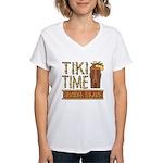 Tiki Time on Sanibel - Women's V-Neck T-Shirt