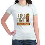 Tiki Time on Sanibel - Jr. Ringer T-Shirt