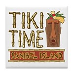 Tiki Time on Sanibel - Tile Coaster