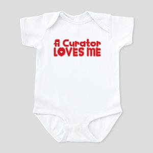 A Curator Loves Me Infant Bodysuit