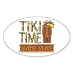 Tiki Time on Sanibel - Oval Sticker