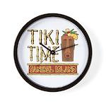 Tiki Time on Sanibel - Wall Clock