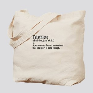 Funny Triathlon Definition Tote Bag