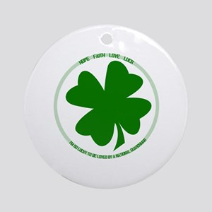 Lucky to be Loved (Guardsman) Ornament (Round)