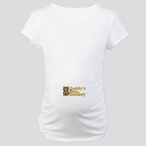 Daddy's Little Monkey Maternity T-Shirt