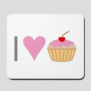 I heart cupcakes Mousepad