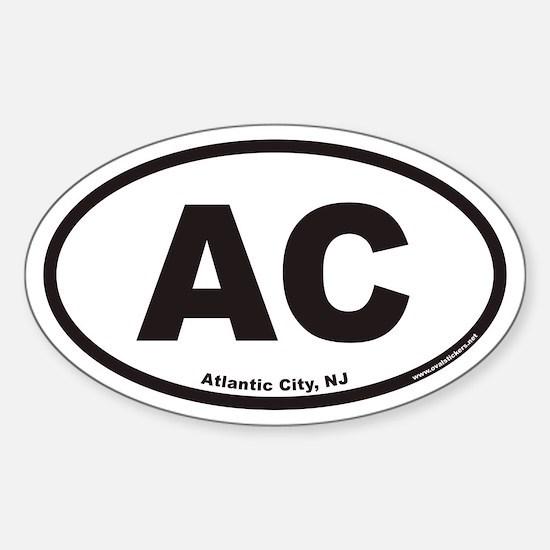 Atlantic City AC Euro Oval Decal