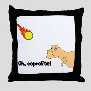 coprolite Throw Pillow