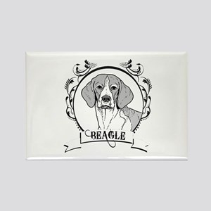 Beagle Rectangle Magnet