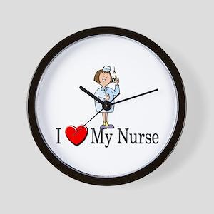 I Love My Nurse Wall Clock
