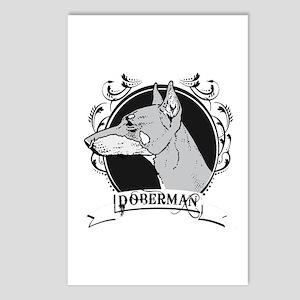 Doberman Pincer Postcards (Package of 8)