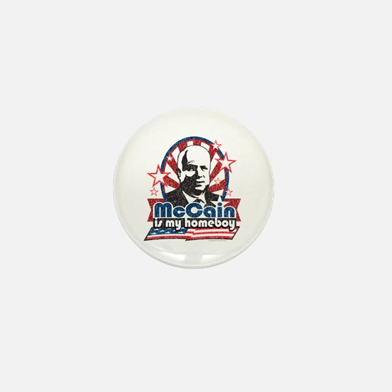 McCain is my Homeboy Mini Button