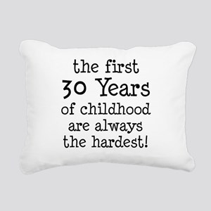 30 Years Childhood Rectangular Canvas Pillow