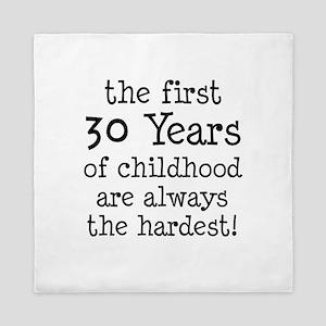 30 Years Childhood Queen Duvet