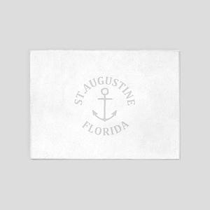 Summer st. augustine- florida 5'x7'Area Rug