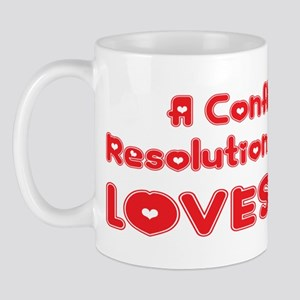 A Conflict Resolution Major Loves Me Mug